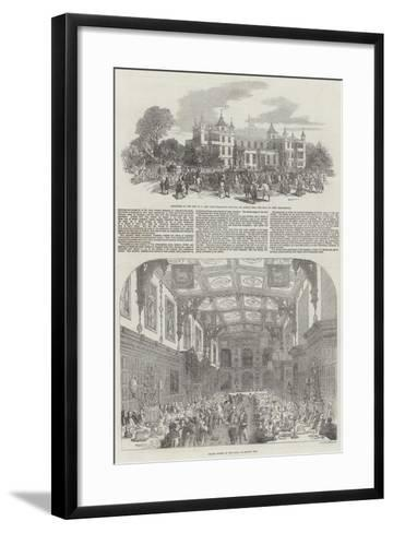 Festivities at Audley End-Samuel Read-Framed Art Print