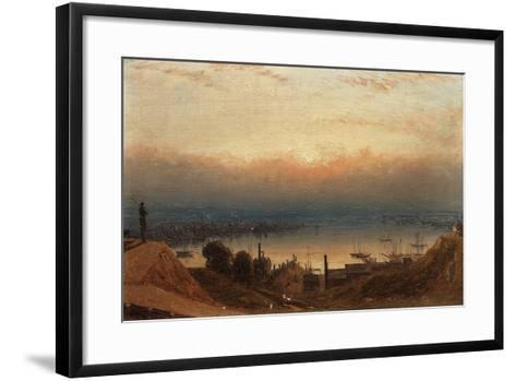 The Basin of the Patapsco from Federal Hill, Baltimore-Sanford Robinson Gifford-Framed Art Print