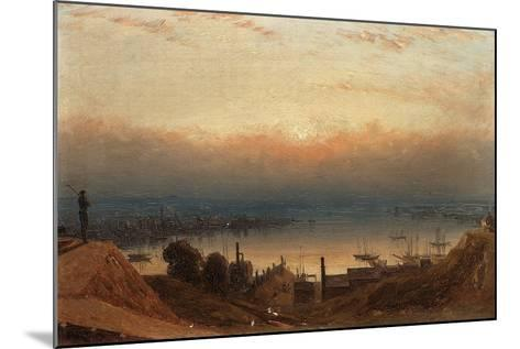 The Basin of the Patapsco from Federal Hill, Baltimore-Sanford Robinson Gifford-Mounted Giclee Print