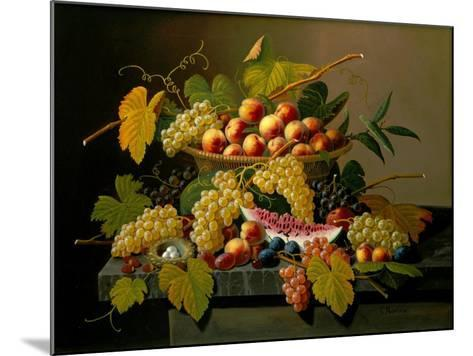 Still Life with a Basket of Fruit, 19th Century-Severin Roesen-Mounted Giclee Print