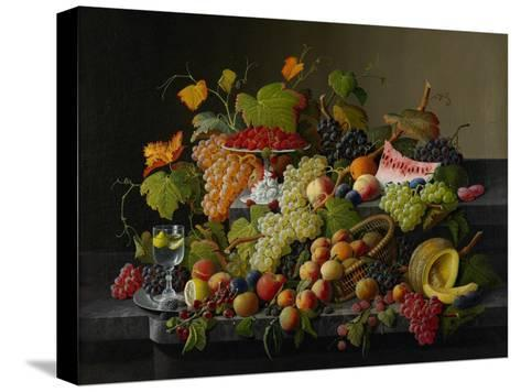 Abundant Fruit, 1858-Severin Roesen-Stretched Canvas Print