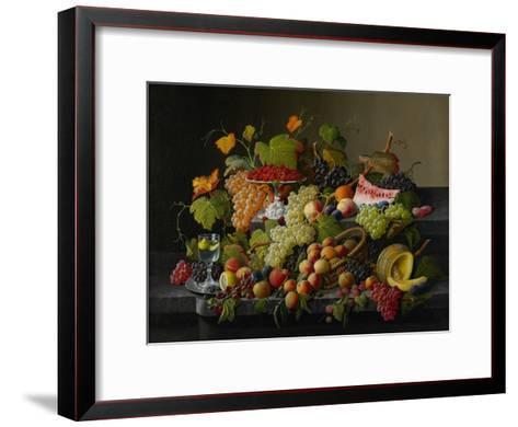 Abundant Fruit, 1858-Severin Roesen-Framed Art Print