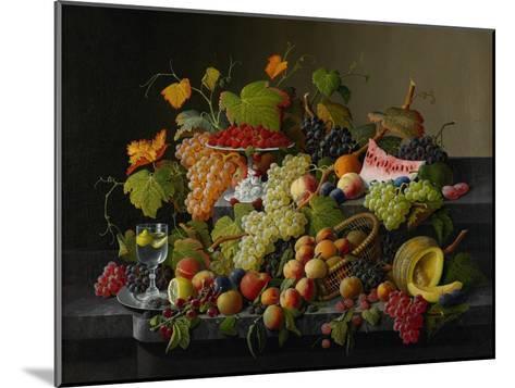 Abundant Fruit, 1858-Severin Roesen-Mounted Giclee Print