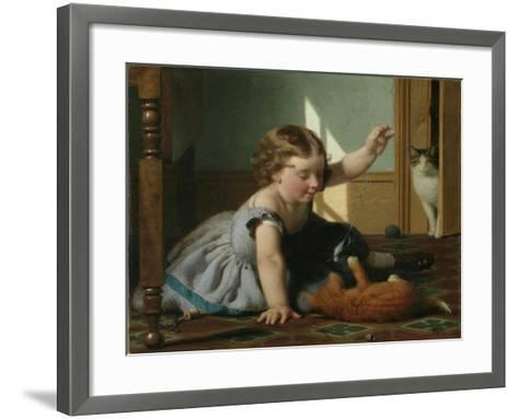 Girl and Kitten-Seymour Joseph Guy-Framed Art Print