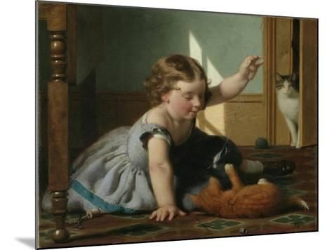 Girl and Kitten-Seymour Joseph Guy-Mounted Giclee Print