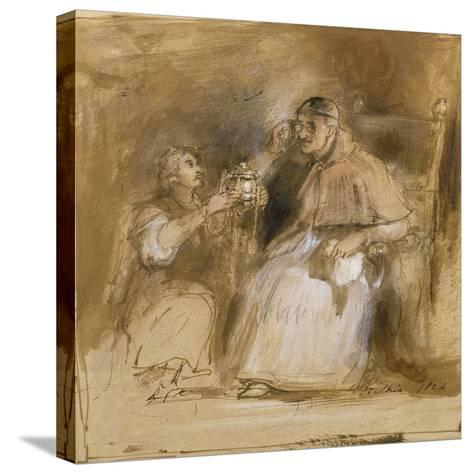 Benvenuto Cellini (1500-71) and Pope Paul II (1468-1579)-Sir David Wilkie-Stretched Canvas Print