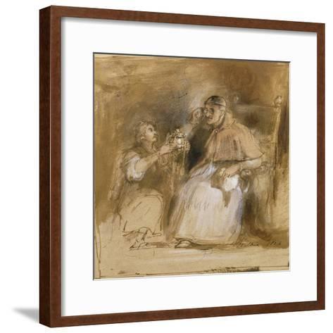 Benvenuto Cellini (1500-71) and Pope Paul II (1468-1579)-Sir David Wilkie-Framed Art Print