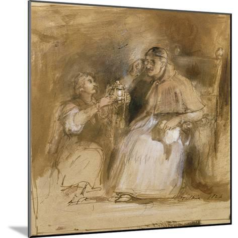 Benvenuto Cellini (1500-71) and Pope Paul II (1468-1579)-Sir David Wilkie-Mounted Giclee Print