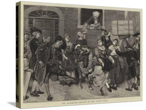The Milkmaids' May-Day in the Olden Time-Sir James Dromgole Linton-Stretched Canvas Print