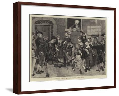 The Milkmaids' May-Day in the Olden Time-Sir James Dromgole Linton-Framed Art Print