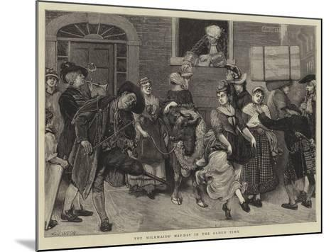 The Milkmaids' May-Day in the Olden Time-Sir James Dromgole Linton-Mounted Giclee Print