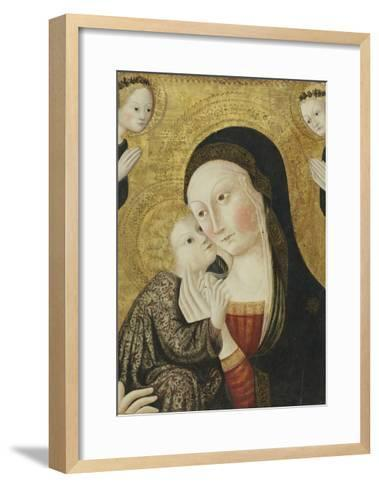 Madonna and Child with Angels, 1430-45-Sano di Pietro-Framed Art Print