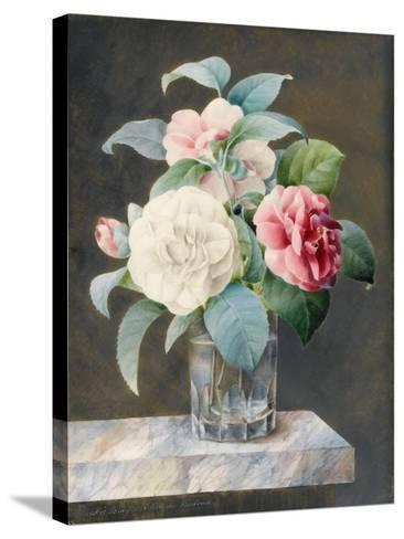 A Cut Glass Vase Containing White-Sarah Bray-Stretched Canvas Print
