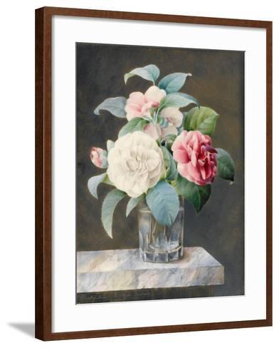 A Cut Glass Vase Containing White-Sarah Bray-Framed Art Print