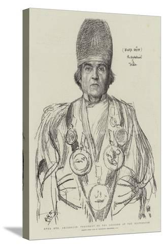 Hwfa Mon, Archdruid, President of the Gorsedd at the Eisteddfod-Hubert von Herkomer-Stretched Canvas Print