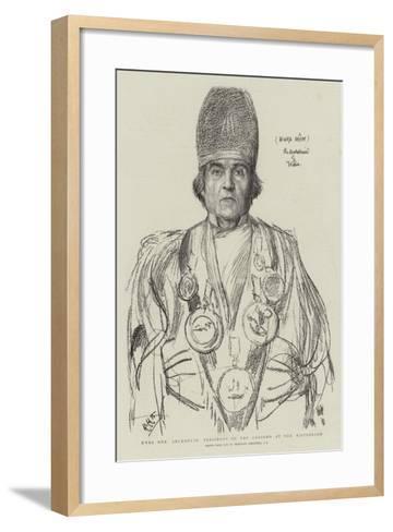 Hwfa Mon, Archdruid, President of the Gorsedd at the Eisteddfod-Hubert von Herkomer-Framed Art Print
