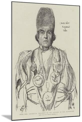 Hwfa Mon, Archdruid, President of the Gorsedd at the Eisteddfod-Hubert von Herkomer-Mounted Giclee Print