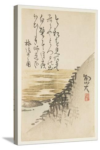 Mountain by the Ocean, C.1830-44-Sat? Gyodai-Stretched Canvas Print