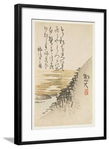 Mountain by the Ocean, C.1830-44-Sat? Gyodai-Framed Art Print