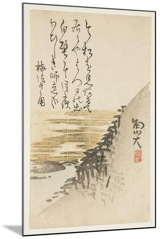 Mountain by the Ocean, C.1830-44-Sat? Gyodai-Mounted Giclee Print