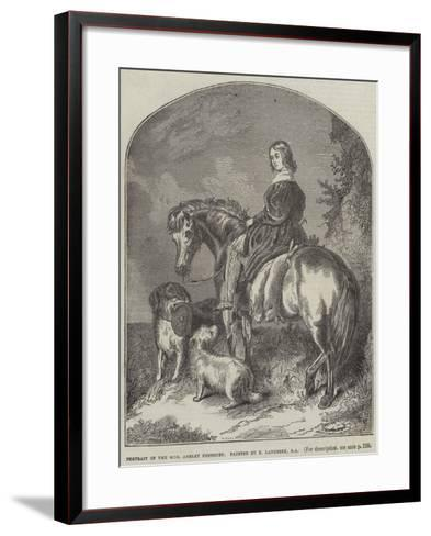 Portrait of Honourable Ashley Ponsonby-Edwin Landseer-Framed Art Print