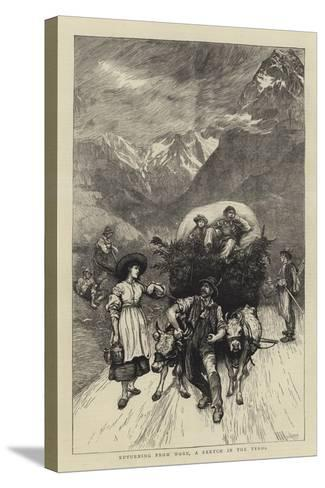 Returning from Work, a Sketch in the Tyrol-Hubert von Herkomer-Stretched Canvas Print