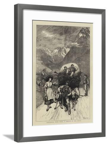 Returning from Work, a Sketch in the Tyrol-Hubert von Herkomer-Framed Art Print