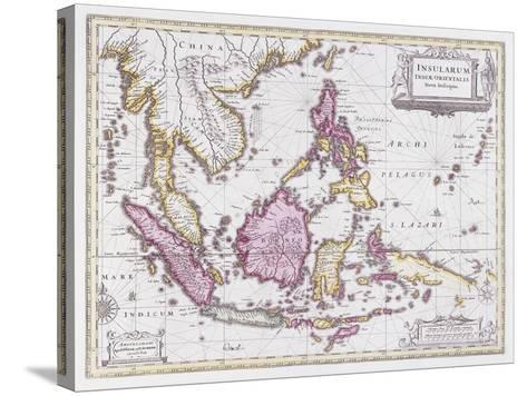 Map of China and Indonesia, C.1710-Schenk and Valk-Stretched Canvas Print