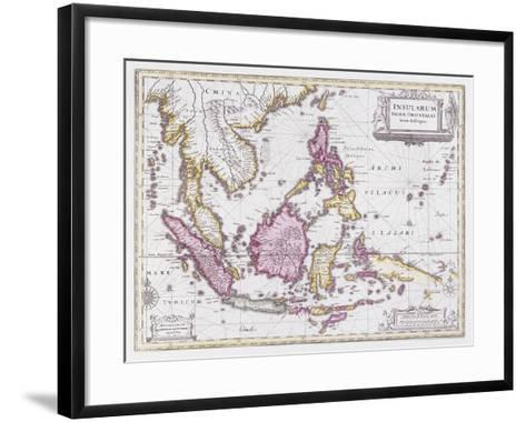 Map of China and Indonesia, C.1710-Schenk and Valk-Framed Art Print