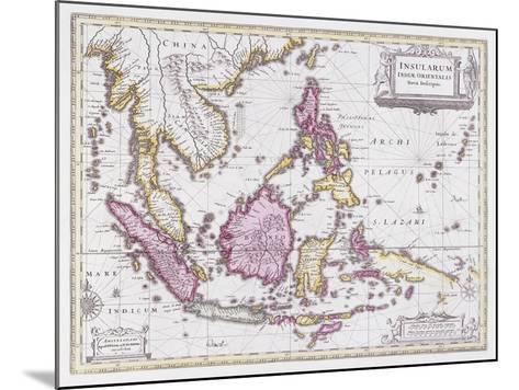 Map of China and Indonesia, C.1710-Schenk and Valk-Mounted Giclee Print