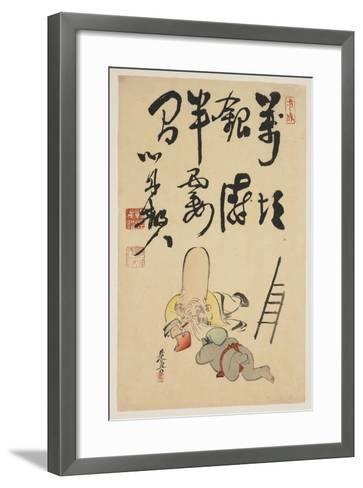 Fukurokuju and Daikoku Gods-Shibata Zeshin-Framed Art Print