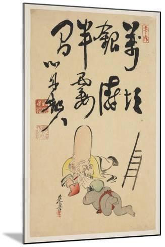 Fukurokuju and Daikoku Gods-Shibata Zeshin-Mounted Giclee Print