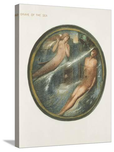 The Flower Book: Xvi. Grave of the Sea, 1905 (Litho with Gouache on Paper)-Edward Burne-Jones-Stretched Canvas Print