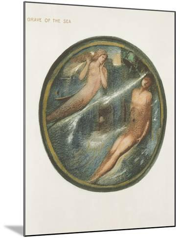 The Flower Book: Xvi. Grave of the Sea, 1905 (Litho with Gouache on Paper)-Edward Burne-Jones-Mounted Giclee Print