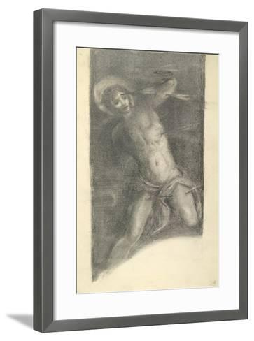 Study of Tintoretto's Saint Sebastian in the Scuola Grande Di San Rocco, 1859 or 1862-Edward Burne-Jones-Framed Art Print