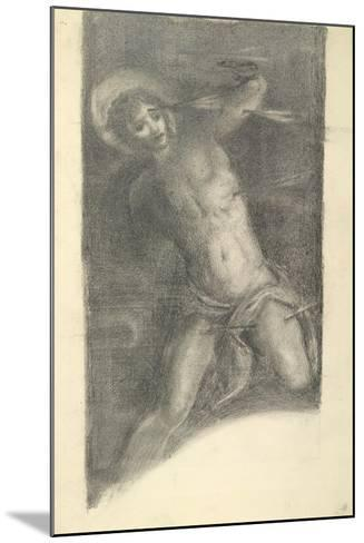 Study of Tintoretto's Saint Sebastian in the Scuola Grande Di San Rocco, 1859 or 1862-Edward Burne-Jones-Mounted Giclee Print