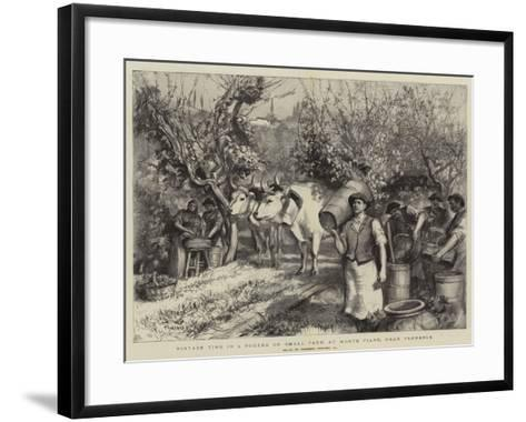 Vintage Time in a Podere or Small Farm at Monte Fiano, Near Florence-Hubert von Herkomer-Framed Art Print