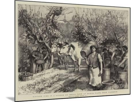 Vintage Time in a Podere or Small Farm at Monte Fiano, Near Florence-Hubert von Herkomer-Mounted Giclee Print