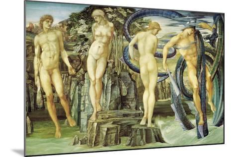 Perseus and Andromeda, 1876-Edward Burne-Jones-Mounted Giclee Print