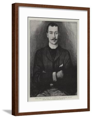 H R H the Late Duke of Clarence and Avondale-Hubert von Herkomer-Framed Art Print