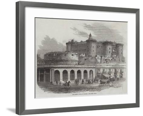 The Castel Nuovo, at Naples-Samuel Read-Framed Art Print