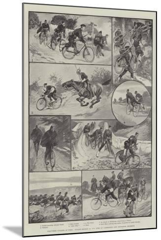 Volunteer Cyclists at Work-Sir Frederick William Burton-Mounted Giclee Print