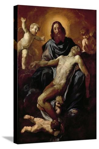 Holy Trinity-Simone Cantarini-Stretched Canvas Print