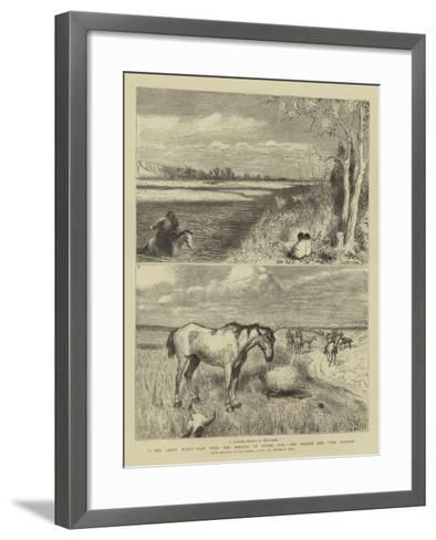 To the Great North-West with the Marquis of Lorne, Xvii, the Prairie and The Rockies-Sydney Prior Hall-Framed Art Print