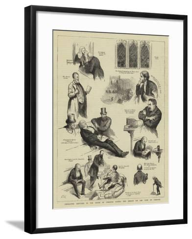 Character Sketches in the House of Commons During the Debate on the Vote of Censure-Sydney Prior Hall-Framed Art Print