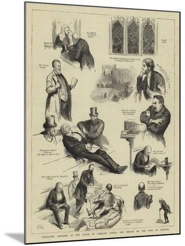 Character Sketches in the House of Commons During the Debate on the Vote of Censure-Sydney Prior Hall-Mounted Giclee Print
