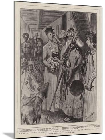 Making the Duchess of Cornwall and York a Daughter of the Sea on Crossing the Line-Sydney Prior Hall-Mounted Giclee Print