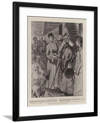 Making the Duchess of Cornwall and York a Daughter of the Sea on Crossing the Line-Sydney Prior Hall-Framed Art Print
