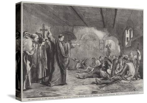 The Conspirators in the Private Apartments of Thomas A'Becket Shortly before His Murder-Sir John Gilbert-Stretched Canvas Print