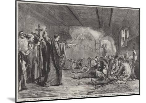 The Conspirators in the Private Apartments of Thomas A'Becket Shortly before His Murder-Sir John Gilbert-Mounted Giclee Print